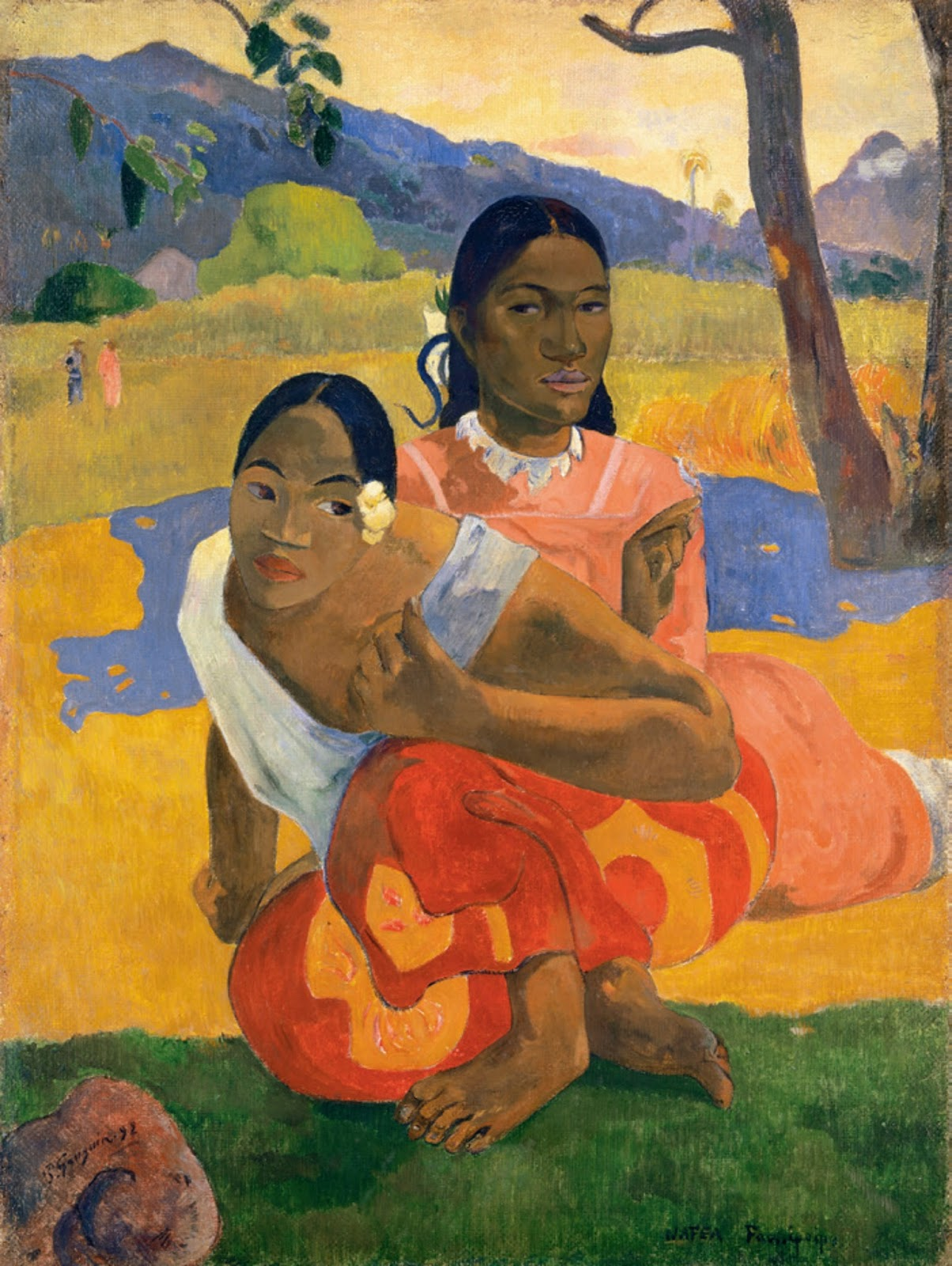 Paul_Gauguin,_Nafea_Faa_Ipoipo-_(When_Will_You_Marry-)_1892,_oil_on_canvas,_101_x_77_cm (1)